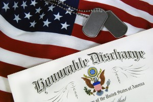 Military Veterans Honorable Discharge & Flag
