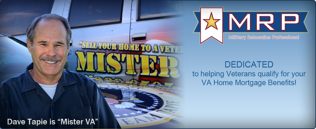 Veterans Loans VA Mortgage home page graphic